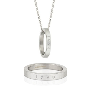 Mantra Ring Necklace Love Size 9