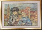 Edna Hibel Lovers Of Florence 26 1/2 x 19