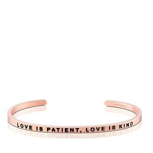 Love is Patient Love is Kind Rose Gold