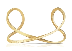 I Love You To The Moon And Back Infinity Bracelet Gold