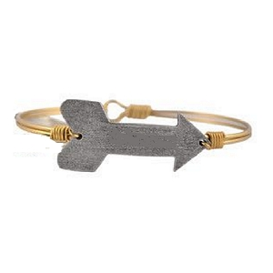 Arrow Bangle Brass 7.5