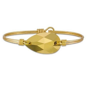 Gold Teardrop Bracelet in Brass 7.5