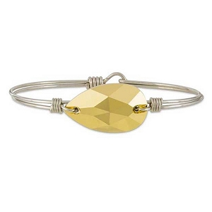 Gold Teardrop Bracelet in Silver 7.0
