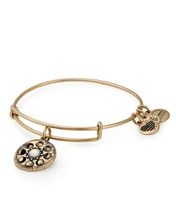 Lunar Phase Charm Bangle Bracelet Gold