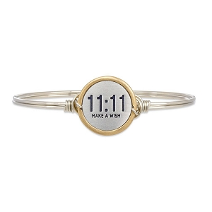 11:11 Make A Wish Bangle Bracelet Silver 7.0