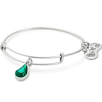 May Birth Month Charm Bangle With Swarovski Crystal Silver