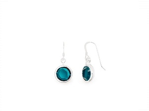 May Emerald Birth Month Swarovski® Earrings Silver