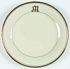 Pickard China Reflection Monogrammed M Dinner Plate