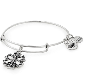 Medical Professional Charm Bangle Silver