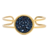 Kelsey Pave Cuff In Metallic Blue