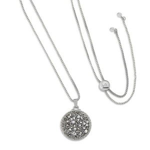 Kelsey Pave Necklace In Metallic Silver Silver