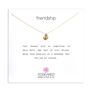 Friendship Anchor Charm Necklace Gold Dipped MG1189