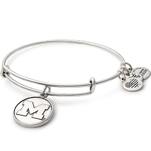 University of Michigan Charm Bangle Rafaelian Silver