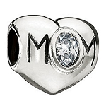 Mom Heart Clear CZ JA-21A