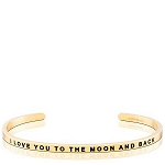 I Love You To The Moon And Back Gold