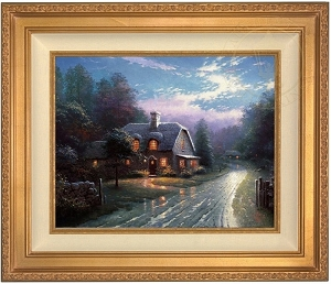 Thomas Kinkade Moonlight Lane 16 x 20  Canvas Framed