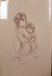 Edna Hibel Astrid and Child Artist Proof 9 1/2 x 5 1/2