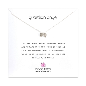 Guardian Angel Charm Necklace Sterling Silver