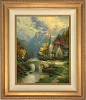 Thomas Kinkade Mountain Chapel  30 x 24 Canvas