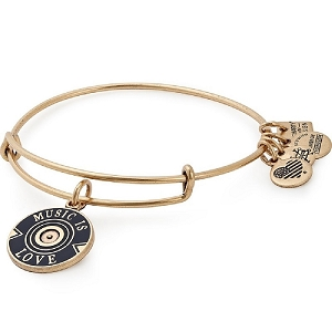Music is Love Charm Bangle Gold