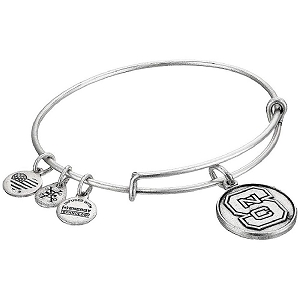North Carolina State University Charm Bangle Rafaelian Silver Finish