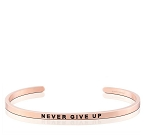 Never Give Up Rose Gold