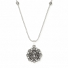 Lotus Peace Petals Expandable Necklace Silver