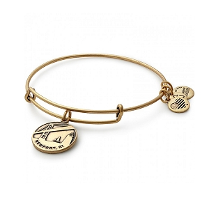 Newport Charm Bangle Rafaelian Gold