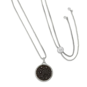 Kelsey Pave Necklace In Jet Silver
