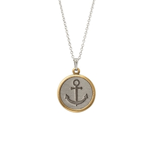 Stay Anchored Necklace Silver