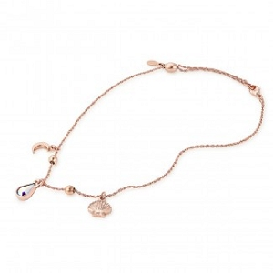 Anklet Oceanside Shiny Rose Gold