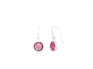 October Rose Birth Month Swarovski® Earrings Silver