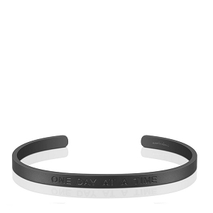 Mens Strength Hope Courage Matte Black