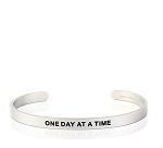 Mens One Day At A Time Silver