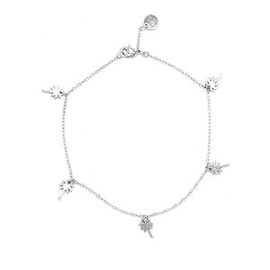 Anklet Palm Tree Silver