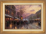 Thomas Kinkade Boulevard Lights Paris s/n 18 x 27