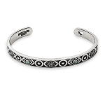 Path of Life Infinity Cuff Bangle Rafaelian Silver