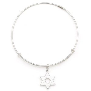 Star of David  Charm Bangle Argentium Silver