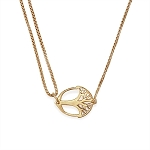 Unexpected Miracles Pull Chain Necklace 14kt