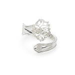 Lotus Peace Petals Spoon Ring Silver