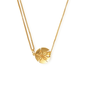 Sand Dollar Pull Chain Necklace 14kt GP