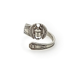 Scarab Spoon Ring Silver