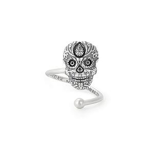 Calavera Ring Wrap Sterling Silver