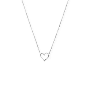 Heart Adjustable Necklace Sterling Silver
