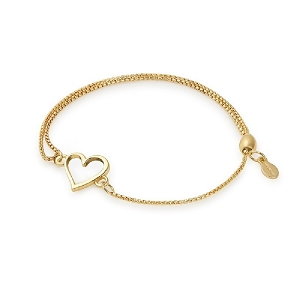 Heart Pull Chain Bracelet Gold