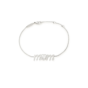 Mom Adjustable Bracelet Sterling Silver