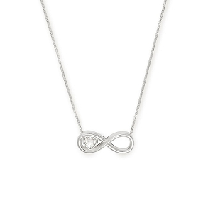 Infinite Love Adjustable Necklace Sterling Silver