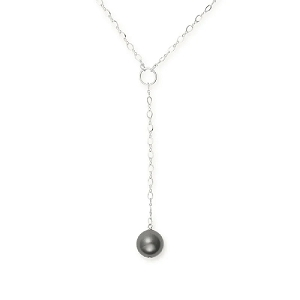 Sea Sultry Pearl Lariat Necklace