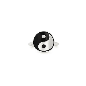 Yin Yang Statement Ring Sterling Silver