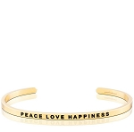 Peace Love Happiness Gold